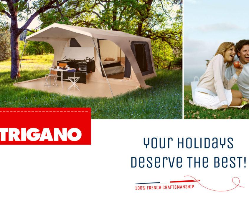 Šotorska počitniška kamp prikolica Trigano Alpha