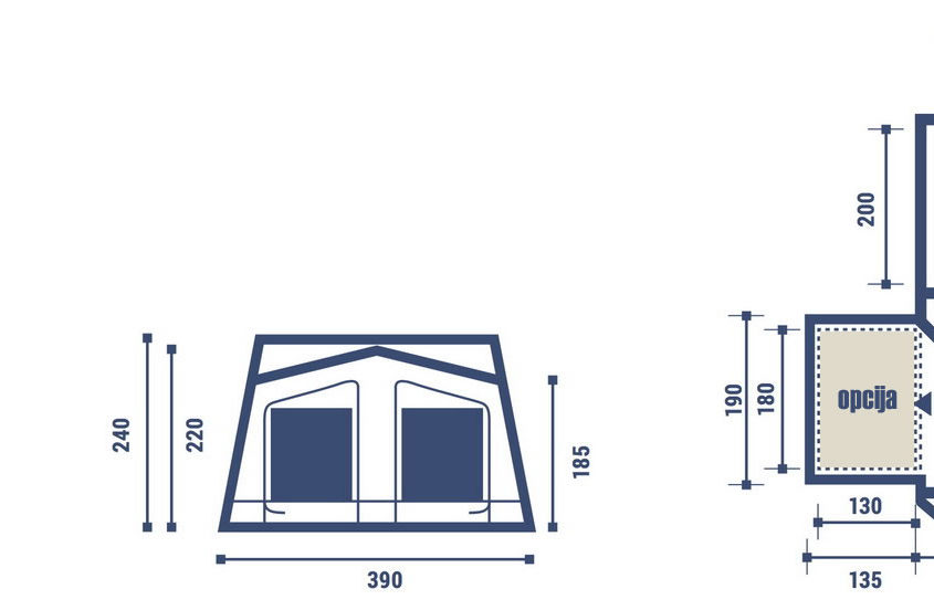Brako prikolice | Kamp prikolice | Počitniške prikolice | Šotorske prikolice | Trigano Odyssee Plus